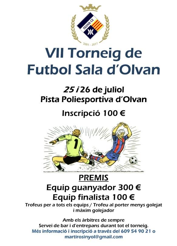 VII Torneig de futbol sala d'Olvan